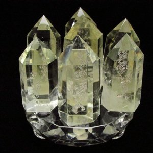 シトリン水晶 浮彫り龍  六角柱 七星陣 t72-328|seian