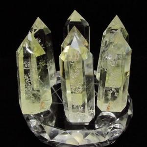 シトリン水晶 浮彫り龍  六角柱 七星陣 t72-330|seian