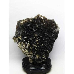 アーカンソー産  モリオン 原石 本物  天然 黒水晶 クラスター 1.8Kg パワーストーン 天然石 t724-2003|seian