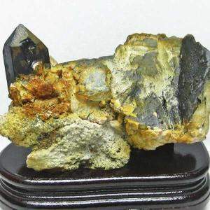 山東省産  モリオン 原石 本物  天然 黒水晶 クラスター 1.9Kg パワーストーン 天然石 t728-1558|seian