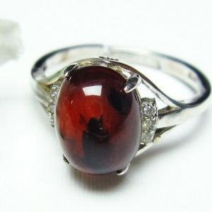 レッドアンバー 赤琥珀 指輪 (13号) t746-2313 seian