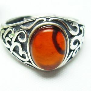 レッドアンバー 赤琥珀 指輪  t746-2864 seian