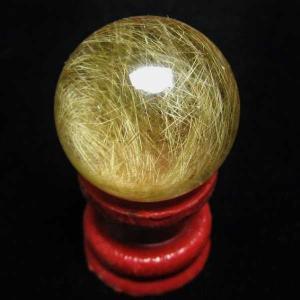 ルチル入り 水晶 丸玉 22mm  パワーストーン 天然石 t768-1472|seian