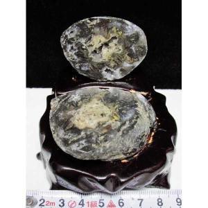 ペア水晶トレジャーメノウ パワーストーン 天然石 t768-697|seian