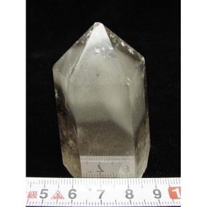 ライトニング水晶 ガーデンファントム入り   六角柱 t768-893|seian