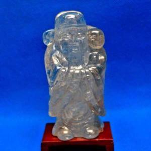 ライトニング水晶福神 置物 パワーストーン 天然石 t800-554|seian