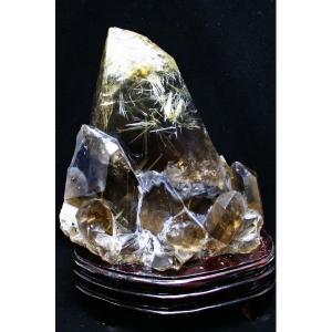 6.2Kg ゴールドタイチンルチルクラスター パワーストーン 天然石 t801-357|seian