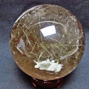 ルチル入り 水晶 丸玉 65mm パワーストーン 天然石 t801-367 seian