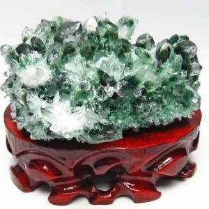 緑水晶 クラスター グリーンクォーツ クラスター t802-1392|seian