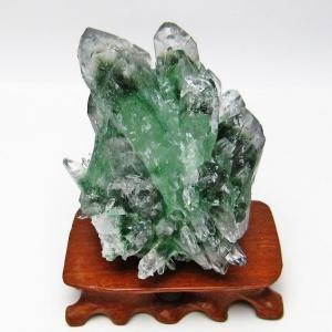 緑水晶 クラスター グリーンクォーツ クラスター t802-1677 seian