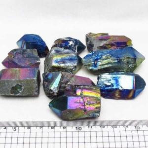 詰め合わせグラム売り オーラ水晶 オーラクリスタル クラスター (レインボー) t802-1797|seian