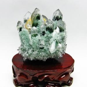 緑水晶 グリーンクォーツ クラスター t802-1869