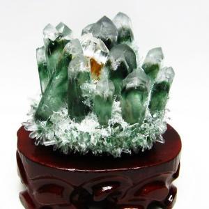 緑水晶 グリーンクォーツ クラスター t802-1872