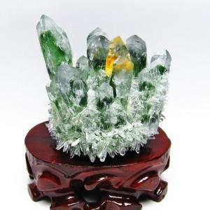 緑水晶 グリーンクォーツ クラスター t802-1875
