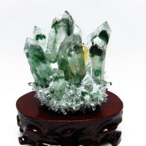 緑水晶 グリーンクォーツ クラスター t802-1899