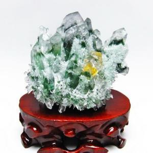 緑水晶 グリーンクォーツ クラスター t802-1905