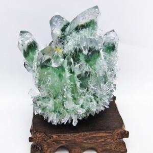 緑水晶 グリーンクォーツ クラスター t802-2338|seian