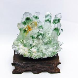緑水晶 グリーンクォーツ クラスター t802-2370|seian