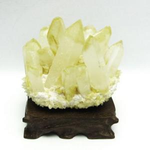 シトリン 水晶クラスター t802-3217|seian