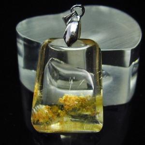 ルチルクォーツ(金針ルチル水晶) ペンダント  t86-4846 seian