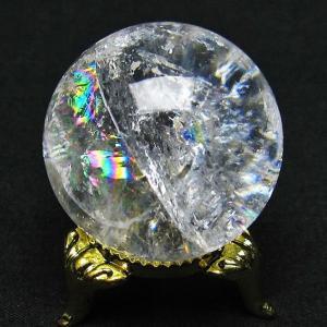 虹入り ヒマラヤ水晶 丸玉 34mm  t91-4725|seian