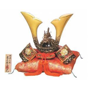 端午の節句 特選 「玉竜獅子星兜」 座布団付き 彫金兜 コンパクト モダン 五月人形 おしゃれ 男の子 高岡銅器 R104【31-09】|seibidou-surprise