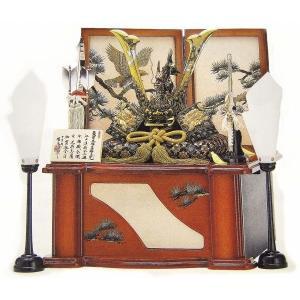 端午の節句 瑞鳥 収納型セット「翔(しょう)」昇鯉竜獅子兜 飾り台に収納できます 高岡銅器 初節句 かぶと飾り 子供の日 モダン R110【31-28】|seibidou-surprise