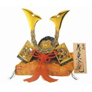 端午の節句 「花王兜 黒金」 座布団付き 兜 の高さ25cm 出世兜 彫金 かぶと飾り モダン 五月人形 おしゃれ 高岡銅器 R117【31-18】|seibidou-surprise