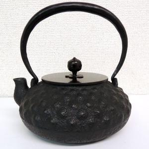 鉄瓶 「平丸鬼霰」 銅蓋 国産の鉄製品 未使用 新品 現品限り 送料無料 A828|seibidou-surprise