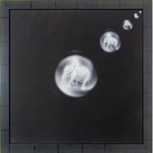 上原徹・大矢正志 「託胎」佛・釈迦八相版画絵図より リトグラフ 額付き 1977年発行の版画 仏間 仏事法要のお飾りに A1337|seibidou-surprise