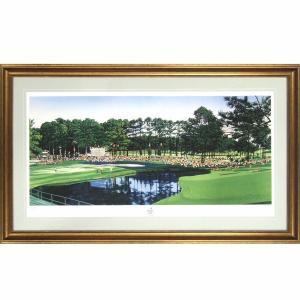 ヒロ・ヤマガタ 「1986マスターズゴルフトーナメント」 ジクレー 額付き オーガスタゴルフクラブ ヒロヤマガタ 送料無料 高級額装 #2958|seibidou-surprise