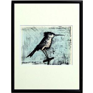 ベルナール・ビュフェ ビュッフェ 「鳥・THE BIRD(レゾネNo.43)」 複製画 (レゾネ画集より) インテリアフレーム 【現品限り】B3090|seibidou-surprise
