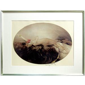 ルイ・イカール 作品 「ヴィーナス」 美術印刷 複製画 額付き 新品 アールデコ レトロ 人物画 美人画 裸婦 B3248|seibidou-surprise