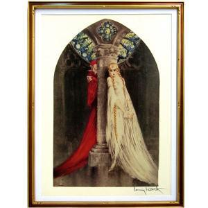 ルイ・イカール 作品  「ファウスト」  美術印刷 複製画 額付き 新品 アールデコ レトロ 人物画 美人画 Faust B3254|seibidou-surprise