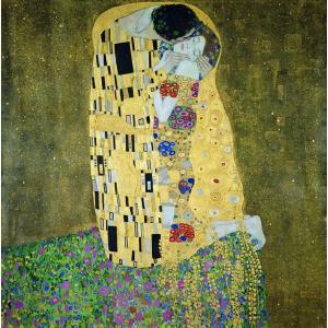 グスタフ・クリムト 「接吻」 S8号相当 額付き  プリハード 複製画 ウィーン分離派 象徴主義 オーストリア美術館/所蔵 P0198|seibidou-surprise