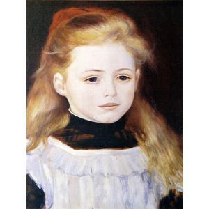 ピエール・オーギュスト・ルノワール 「白いエプロンの少女」 額付き 小品 F3号相当 プリハード 複製画 印象派 個人所蔵 P1023|seibidou-surprise