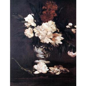 エドゥアール・マネ 「台の上のしゃくやくの花」 額付き 小品 F3号相当 プリハード 複製画 印象派 オルセー美術館/所蔵 P1260|seibidou-surprise
