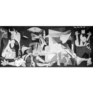 パブロ・ピカソ 「ゲルニカ」 M20号相当 額付き  プリハード 複製画 キュビズム プラド美術館(スペイン)/所蔵 P8711|seibidou-surprise