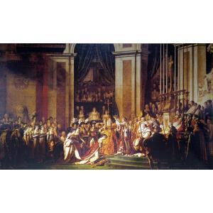 ジャック・ルイ・ダヴィッド「ナポレオンの戴冠式」超大型絵画 額付き 100号 プリハード 複製画 新古典主義 宮廷画家 ルーブル美術館/所蔵 P9567|seibidou-surprise