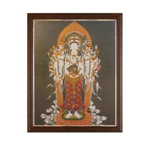 仏画 千手観音 せんじゅかんのん 額入り ポスター 美術印刷複製 仏教 仏事に 仏間のお飾りに  81001 子年の守り本尊|seibidou-surprise