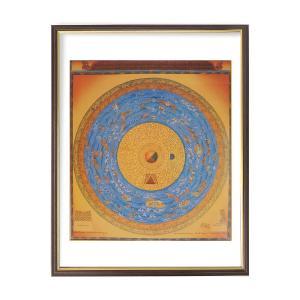 仏画 地水火風曼荼羅 額付き ポスター 美術印刷複製 仏教 仏事に 仏間のお飾りに 81018 マンダラ mandala 守護|seibidou-surprise