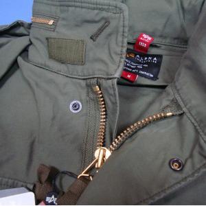 アルファインダストリーズ M-65 MOD TA1337-221 Aグリーン フィールドジャケット ALPHA|seifuku27|05