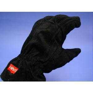 LEVI'S リーバイス手袋 LV16737 ブラック 黒 BLACK 豚皮|seifuku27