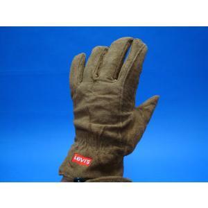 LEVI'S リーバイス手袋 LV16737 ブラウン 茶  豚皮|seifuku27