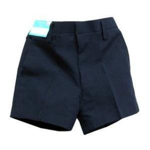 小学生制服半ズボンBB体(紺色)冬用 3分丈ノータック制服ズボンP100% /ウォッシャブル|seifukuomakase