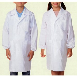 医療白衣 児童 子供用 シングル 診察衣 OP121 実験衣 120〜160医療|seifukusimasenka