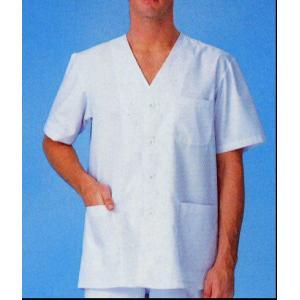 調理白衣 男性用 調理衣 サンペックス半袖 S〜4L 厨房 FA322|seifukusimasenka