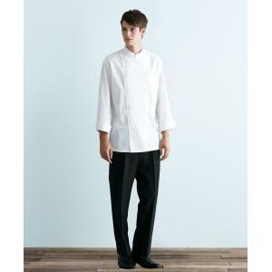 チトセ arbe017 (アルベ)  AS-8045 (AS8045) コックシャツ(長袖)[男女兼用] SS〜4L フードサービスユニフォーム|seifukusimasenka