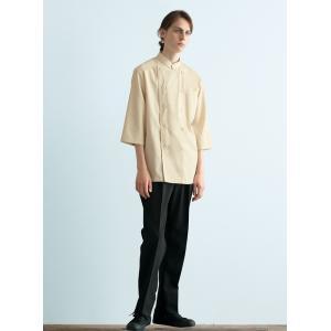 チトセ arbe017 (アルベ)  AS-8046 (AS8046) コックシャツ(七分袖)[男女兼用] SS〜4L フードサービスユニフォーム|seifukusimasenka