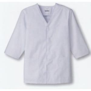 調理白衣 男性用 調理衣 7分袖 衿な し S〜4L 厨房 サンペックス FA323|seifukusimasenka